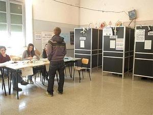 Foto di un seggio elettorale