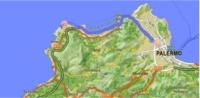 Mappa stradale circostante l'aeroporto di Palermo