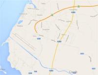 Mappa stradale circostante l'aeroporto di Trapani